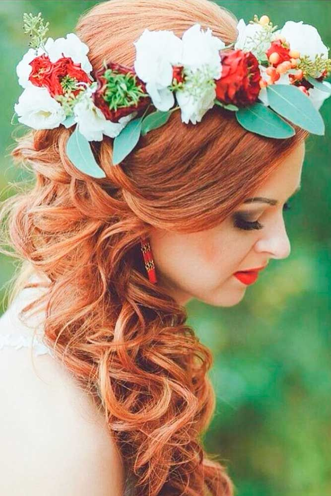 24 Gorgeous Blooming Wedding Hair Bouquets ❤ See more…