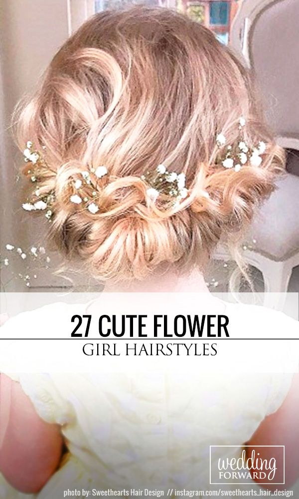 27 Cute Flower Girl Hairstyles ❤ Simple flower girl hairstyles and more comple...