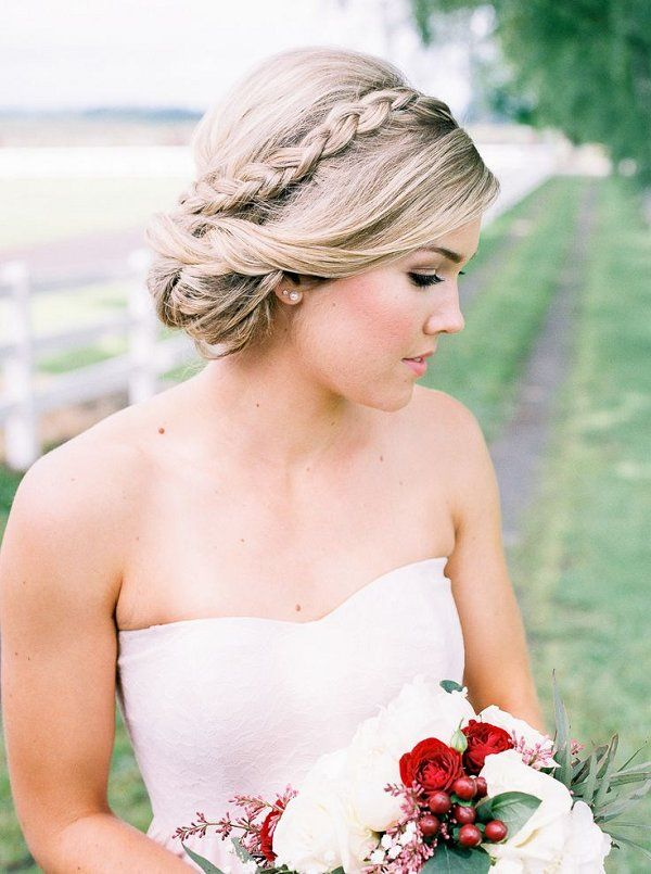 Bridal Hairstyles Crown Braid Updo Wedding Hairstyles Beauty