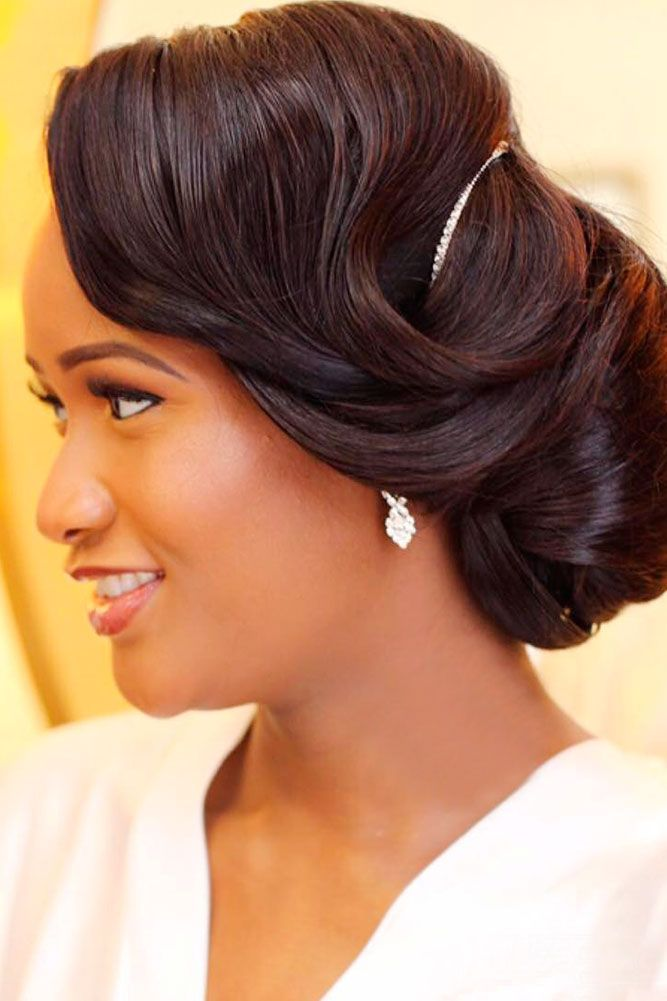 18 Black Women Wedding Hairstyles ❤ See more…