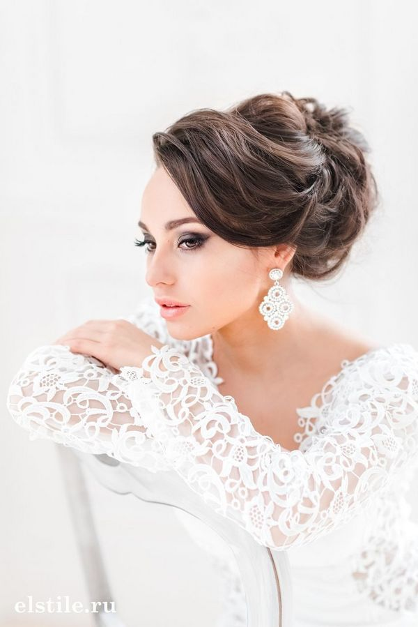 Long Wedding Hairstyles and Bridal Updo Hairstyles for Long Hair from elstile-sp...