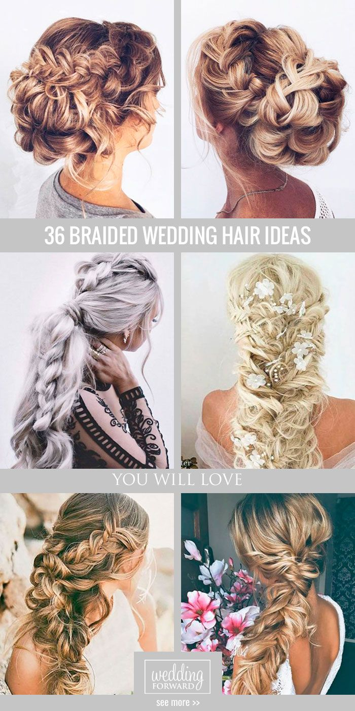 36 Braided Wedding Hair Ideas You Will Love ❤ All the way to braided wedding...