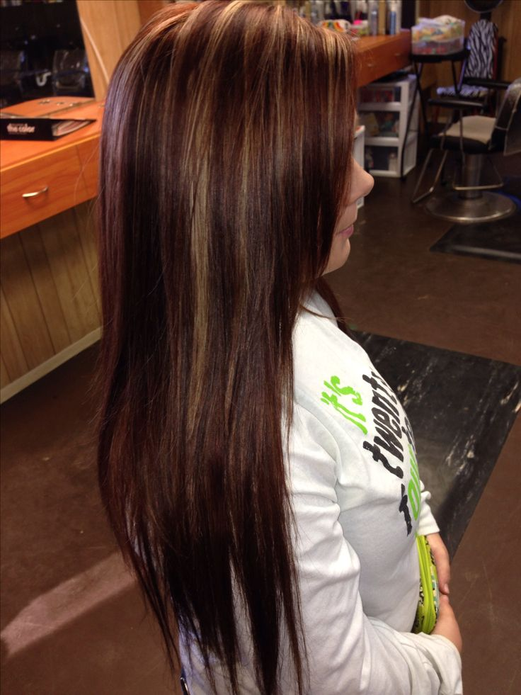 Red brown with highlights. Hair color. Fall hair color. Hair by Megan McShane  ...