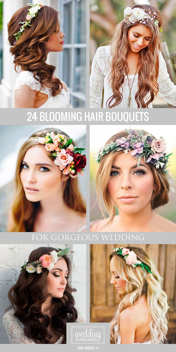 Bridal hairstyles 24 gorgeous blooming wedding hair bouquets 24 gorgeous blooming wedding hair bouquets floral crowns and blooming weddin izmirmasajfo