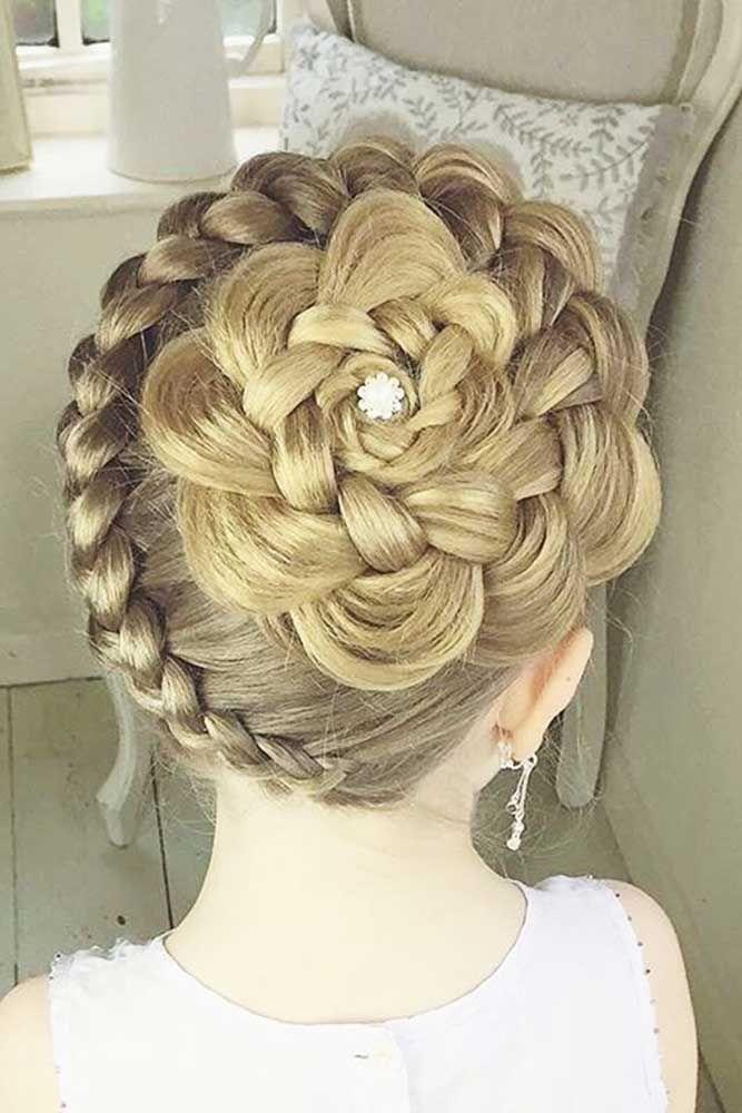 Bridal Hairstyles : 27 Cute Flower Girl Hairstyles ❤ See more ...