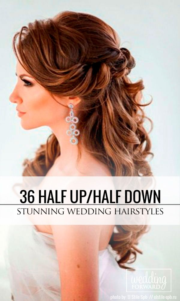 36 Stunning Half Up Half Down Wedding Hairstyles ❤ Are you looking for a half ...