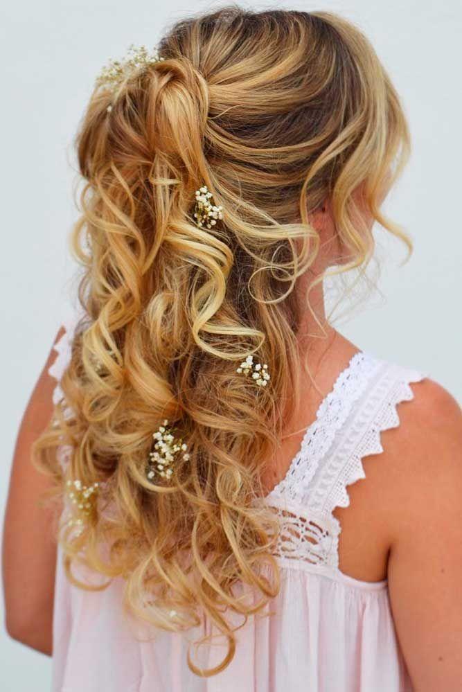36 Stunning Half Up Half Down Wedding Hairstyles ❤ See more…