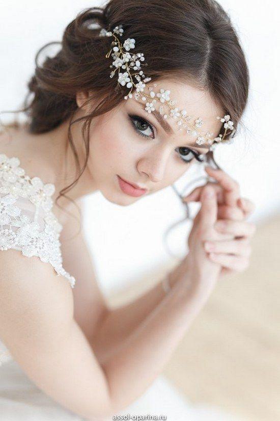 Bridal Hairstyles : Crystal Decorated Wedding Bridal HeadBand ...