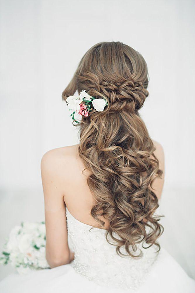 Cute Half Up Half Down Wedding Hairstyles / www.deerpearlflow...