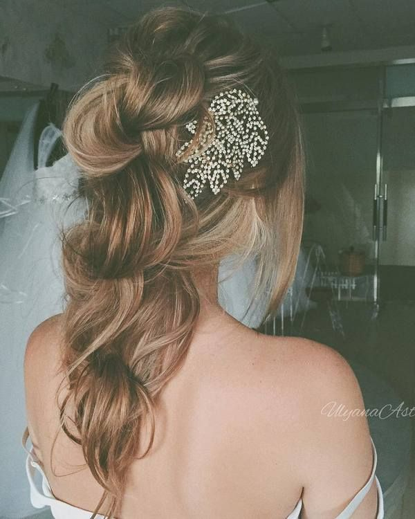 Ulyana Aster Long Bridal Hairstyles for Wedding_09 ❤ See More: www.deerpearlfl...