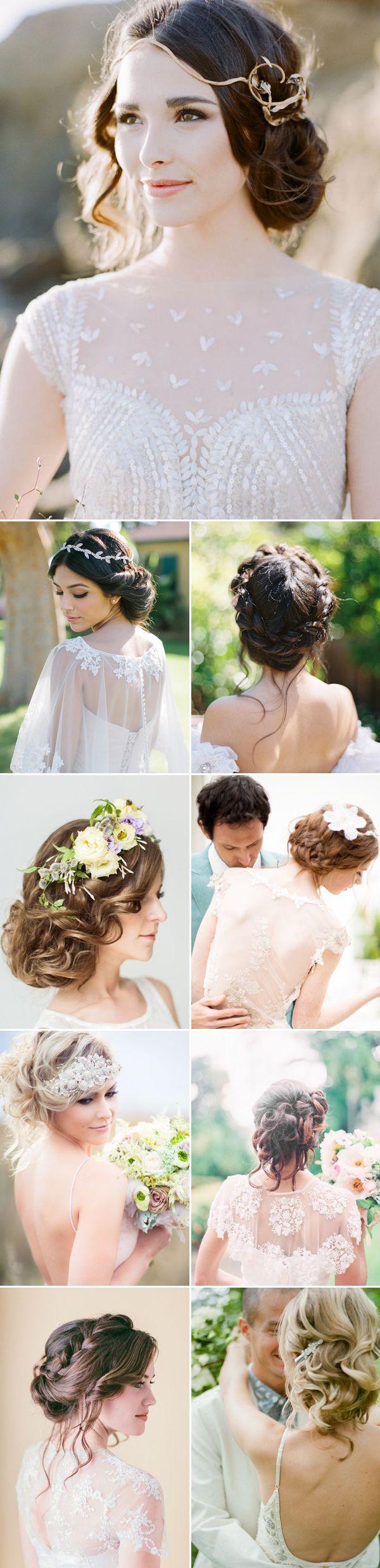 messy updo wedding hairstyles for long hair / www.deerpearlflow...