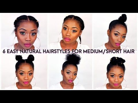 6 BACK TO SCHOOL QUICK NATURAL HAIRSTYLES FOR SHORT/MEDIUM HAIR | LIZZIE LOVES -...