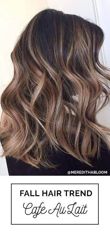 Cafe Au Lait! Perfect Fall Hair Color For Brunettes with Balayage with Soft High...
