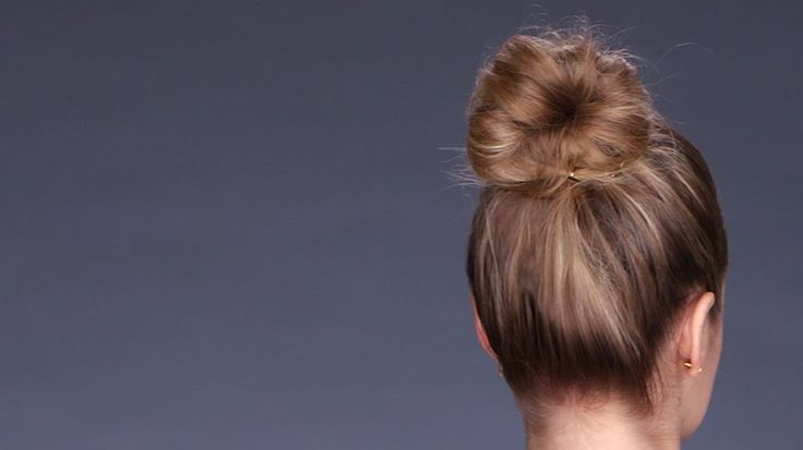 Fake a Thick Bun (No Sock Needed!): For us shoulder-length gals, getting our hai...