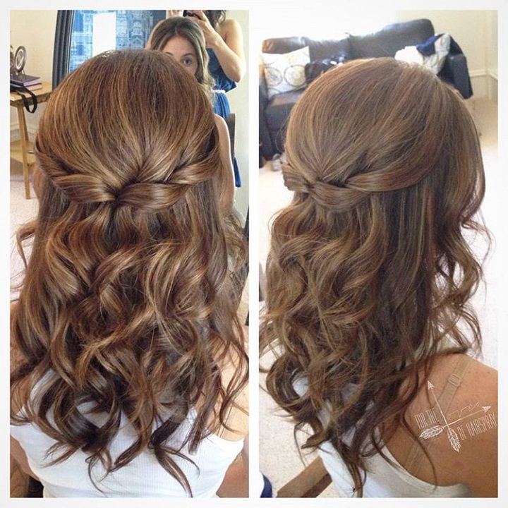 Hair care Ideas : Pretty Half up half down hairstyle for curly hair ...