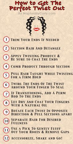 Twist-out how-to...