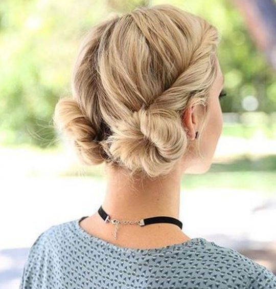 #hair #cheveux #court #coiffure #idee #diy #braid #tresse #chignon #bun