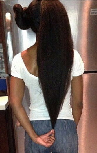 Hip Length Natural Hair! -- this IS MY HAIR GOAL