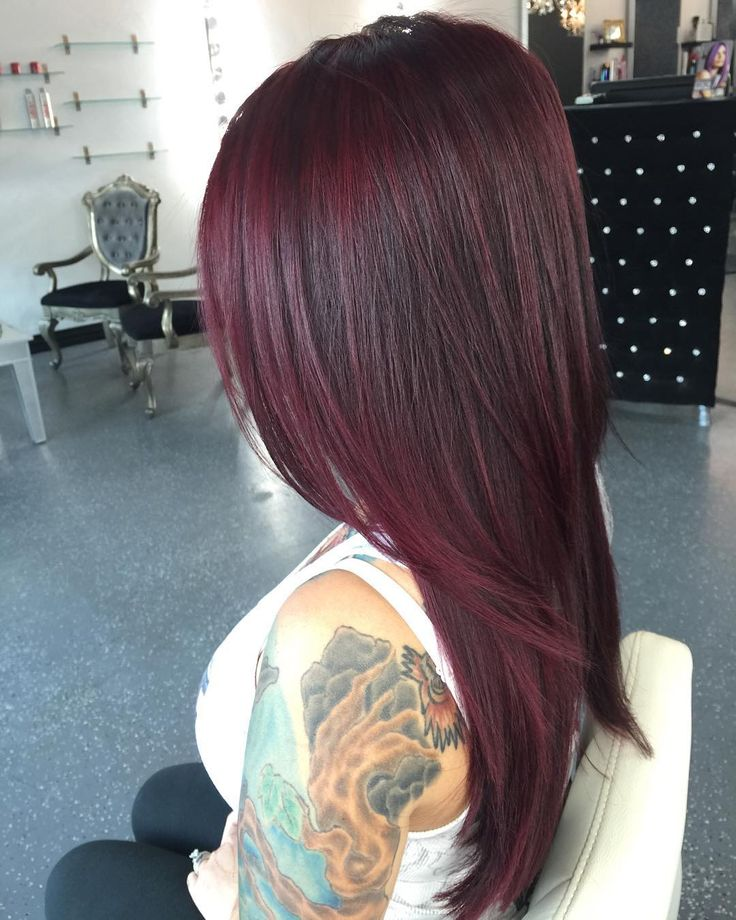 Red Hair Color Gorgeous Deep Wine Red I Did On My Client Deepredhair