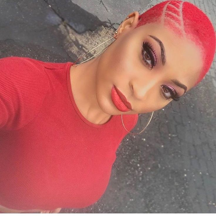 Lady In Red via @d2themasterbarber - blackhairinformat...
