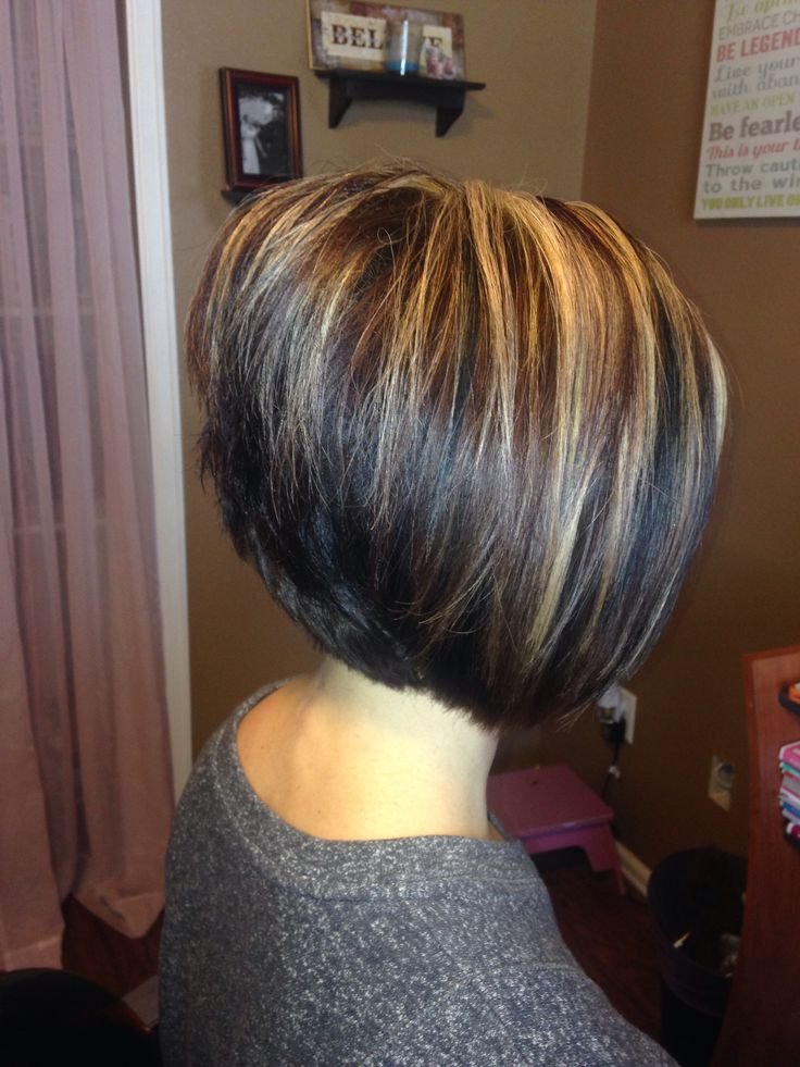 Trendy Hair Color Highlights A Line Stacked Bob Beauty Haircut