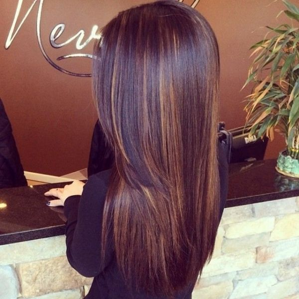 Trendy Hair Color Highlights Dark Chocolate Hair Color With