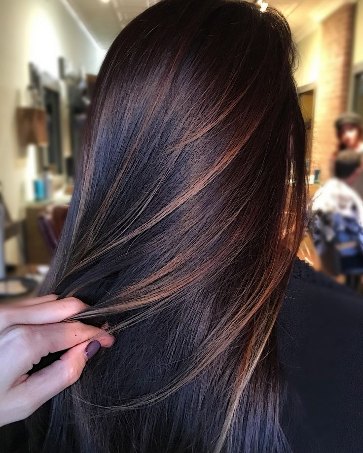 Trendy Hair Color Highlights Dark Brown Balayage Beauty