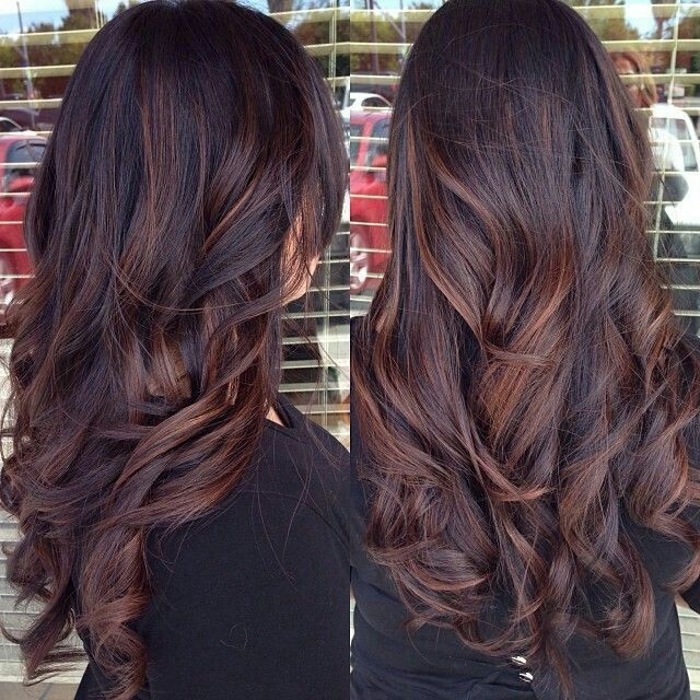 Trendy Hair Color Highlights Dark Brown With Auburn Highlights