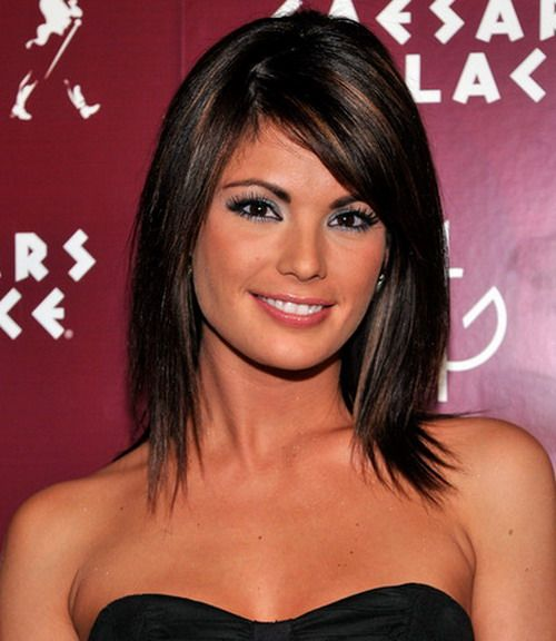 I like the highlights for dark brown hair.