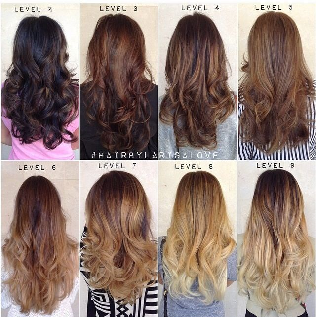 Trendy Hair Color Highlights Larisa Love Shares Her Level Chart