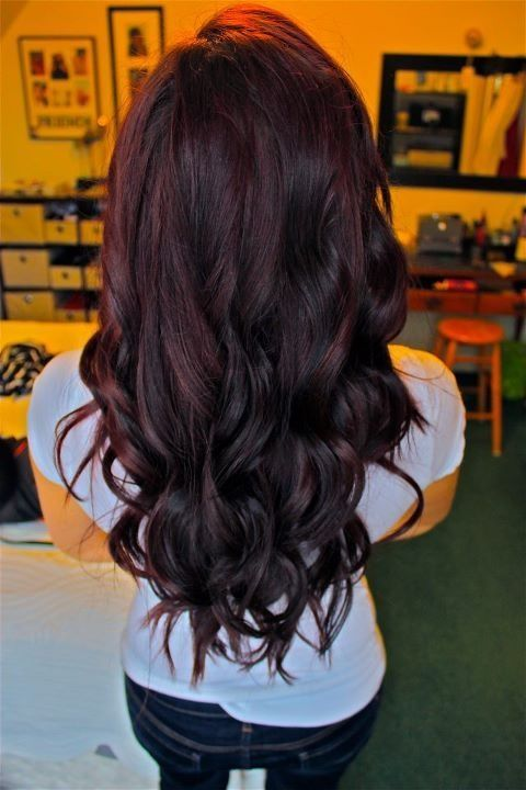 Perfect Dark Plum/purple color!  Don't know if it goes with my skin tone tho...