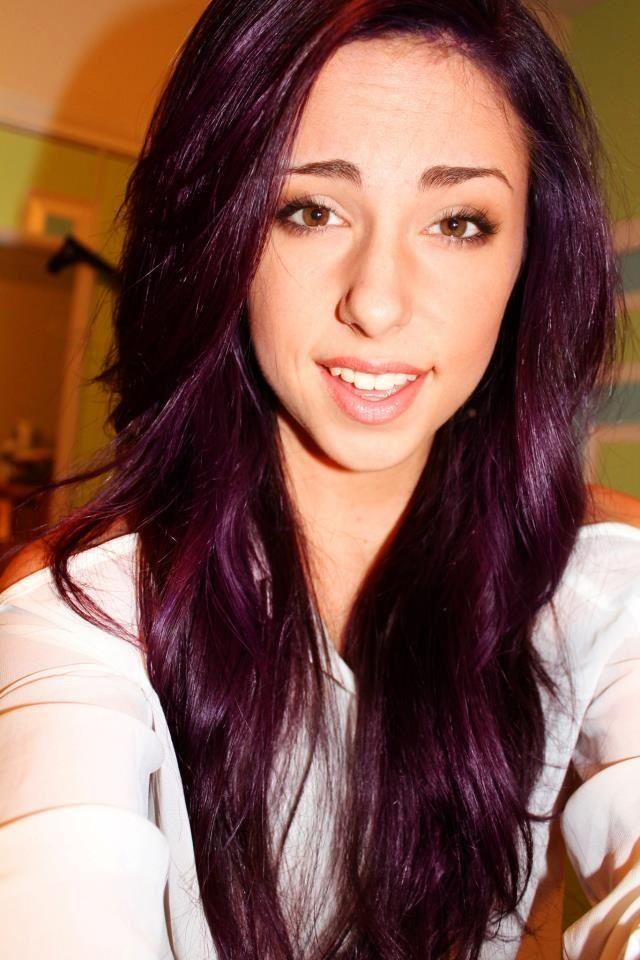 Trendy Hair Color Highlights Pravana Violet Over Light To Medium