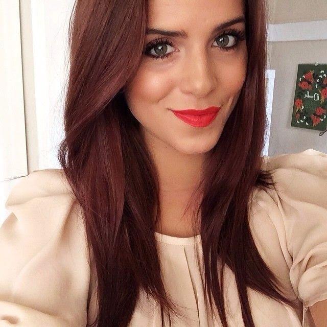 Trendy Hair Color Highlights Reddish Chestnut Brown Hair Color