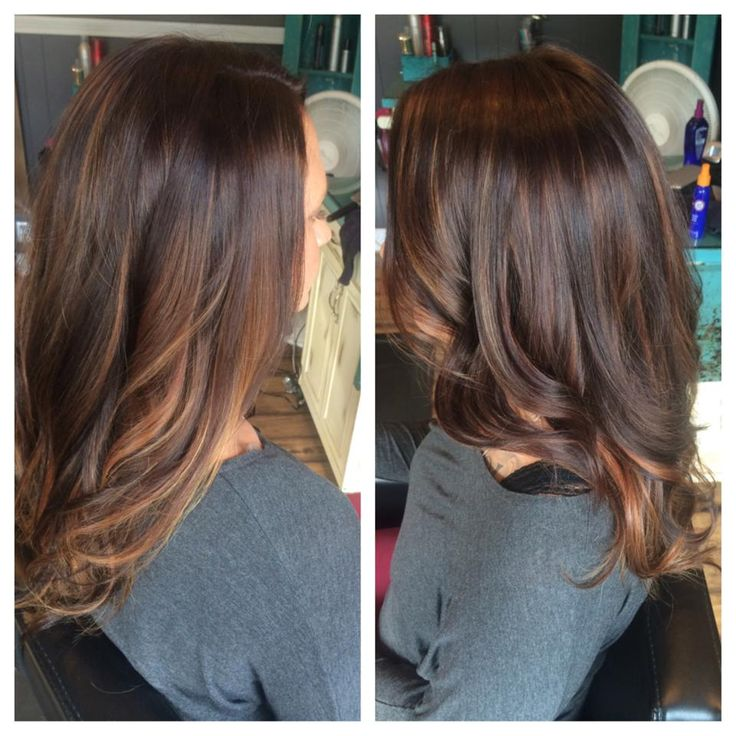 Trendy Hair Color Highlights Rich Chocolate Brown With Copper