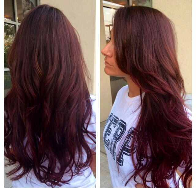 Red Violet Hair Color With Highlights Driveeapusedmotorhomefo