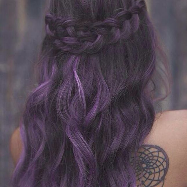 Trendy Hair Color Highlights Warning These 20 Purple Hairstyles