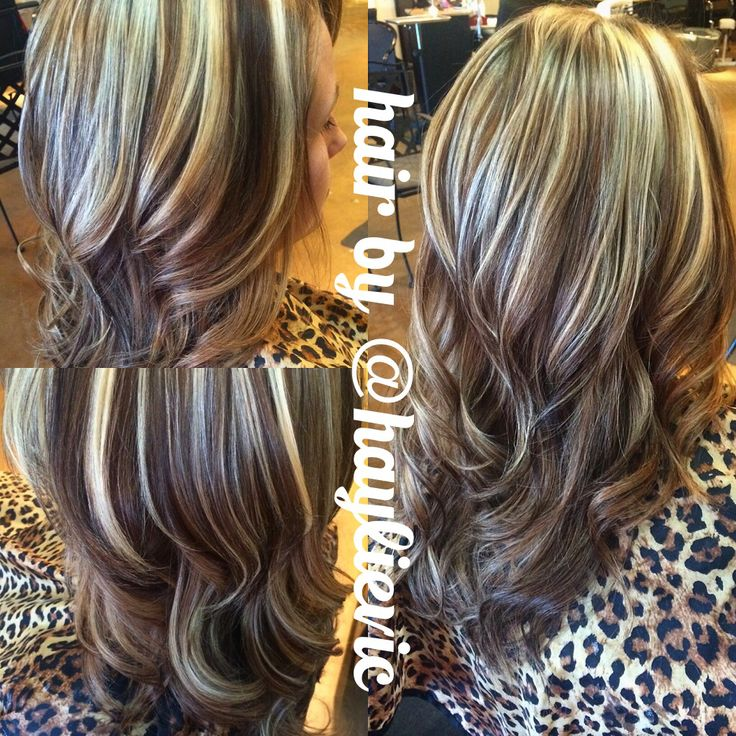 Trendy Hair Color Highlights Chunky Blonde Highlights Brown All