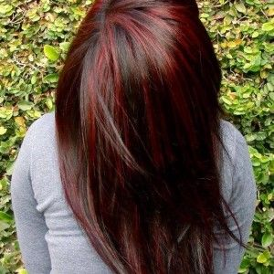 Trendy Hair Color Highlights Chunky Highlights For Dark Brown
