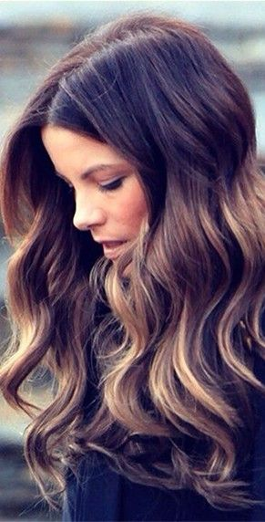 kate beckinsale's frosted chestnut hair color | fall hair color ideas for br...