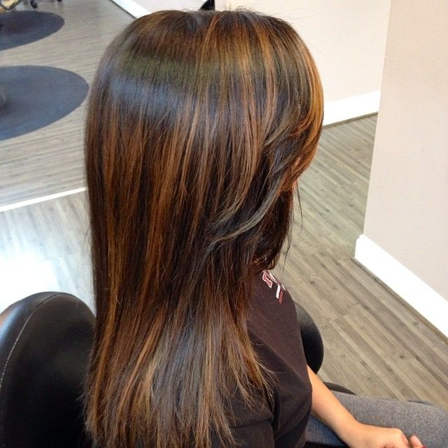 Balayage on straight hair