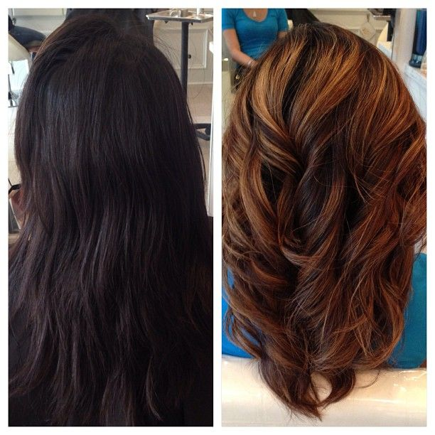 Before & After Hair Highlights