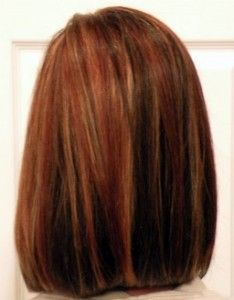 Copper / Brown / Blonde Highlights - I'm thinking the copper highlights / Br...
