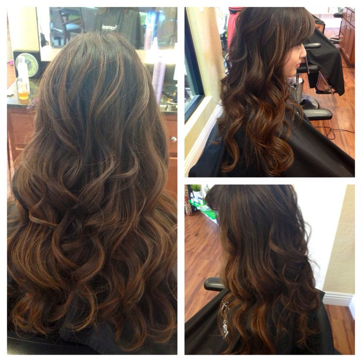 Cut color and style by Brianna @ Salon Cartier. Beautiful balayage to add soft, ...