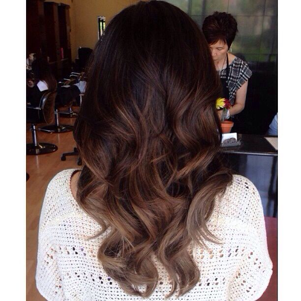 Trendy Ideas For Hair Color Highlights Dark Brown Balayage Ombre