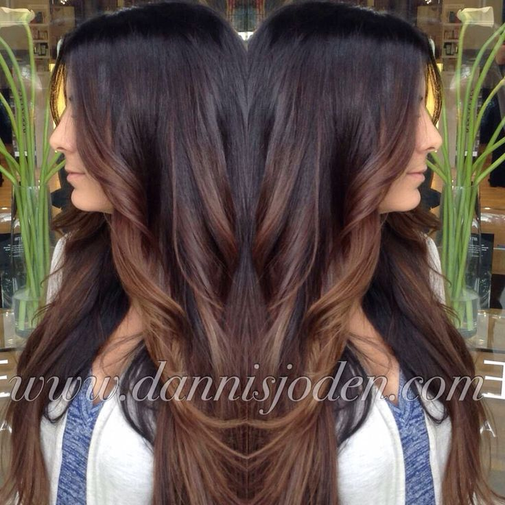 Trendy Ideas For Hair Color Highlights Dark Brown Melting Into
