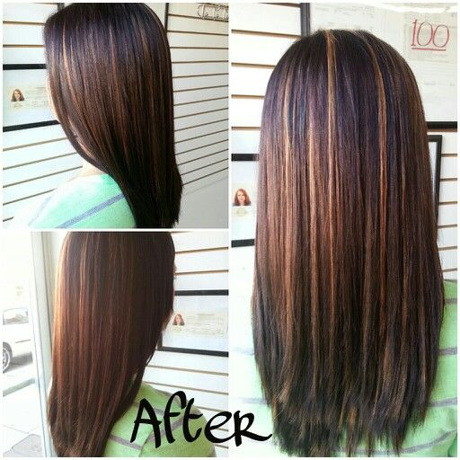 Trendy Ideas For Hair Color Highlights Hair Color Dark Brown