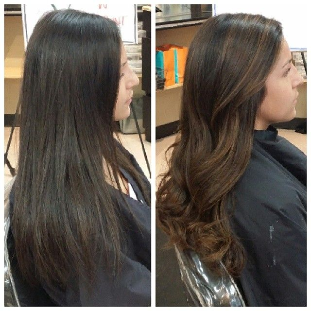 trendy ideas for hair color highlights brown black hair balayage