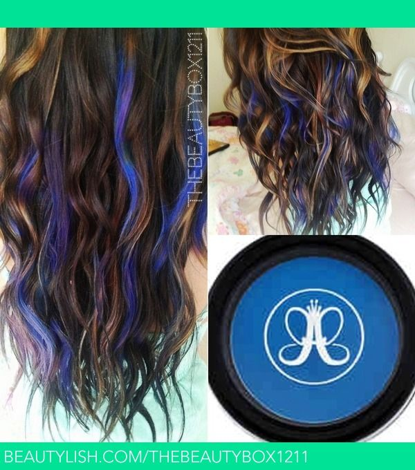 Trendy Ideas For Hair Color Highlights Electric Blue Temporary