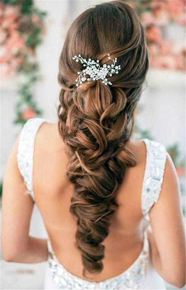 25 Elegant Wedding Hairstyles for Long Hair | www.meetthebestyo...
