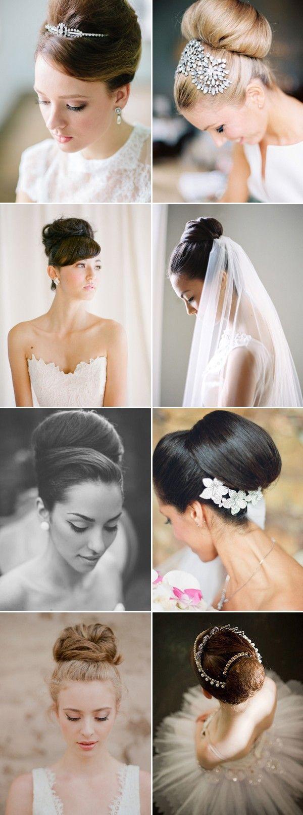 Wedding Hairstyles Audrey Hepburn Style Classic Bun Wedding Updos